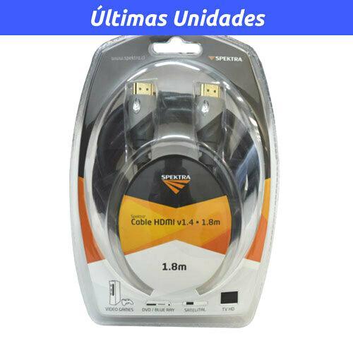 Cable HDMI / HDMI 1.8m versión 1.4