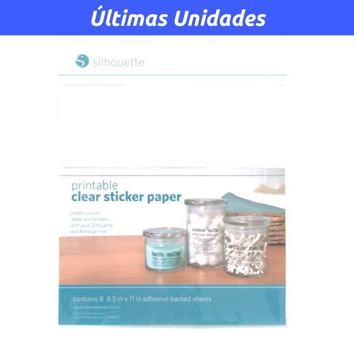 Silhouette Papel Adhesivo Transparente Imprimible Para Stickers