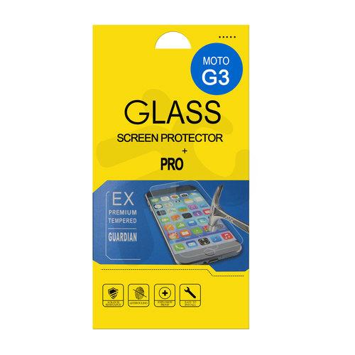 Lámina vidrio templado Moto G3 OEM