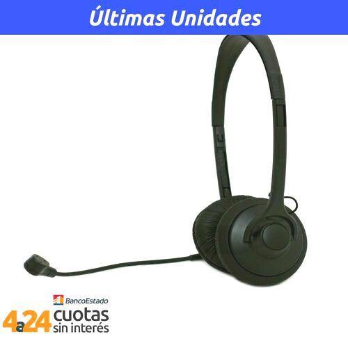 Audifono Headset Negro c/mic