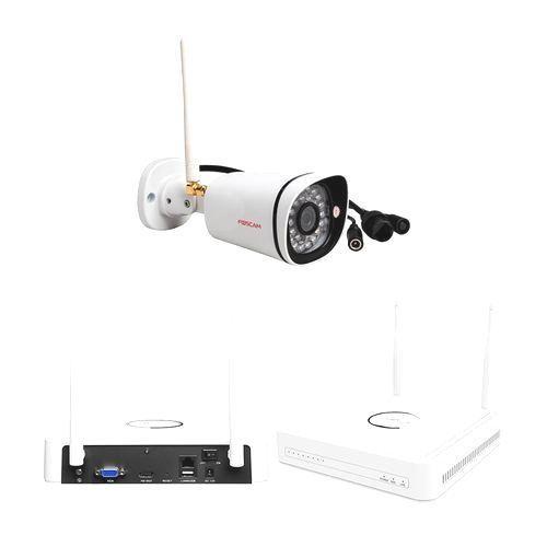 Kit NVR 4 Canales + 4 Cámaras HD Wireless + Disco 1TB