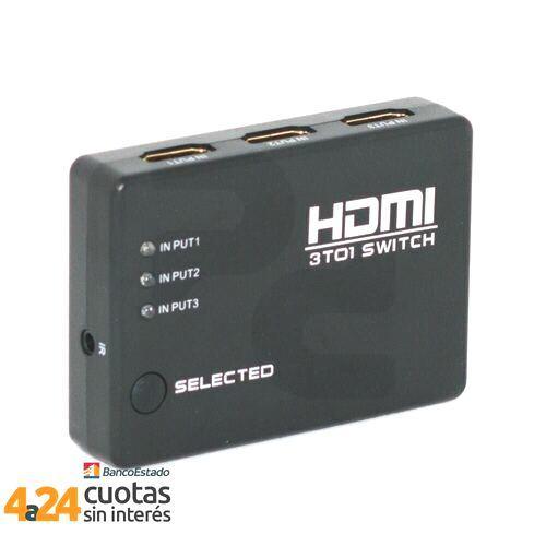 HDMI Switch 3 x 1 puertos con control remoto