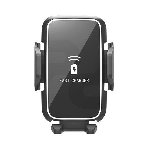 6c0a948587a PCF OEM® Soporte de Celular para Automóvil con Ventosa/Ventilación de aire  y cargador Inalámbrico 10W PCF OEM Negro (Carga Rápida)