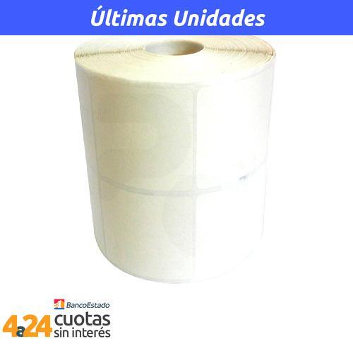 Rollo de etiqueta térmica de 50mm x 50mm