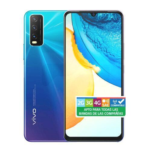 """Smartphone Vivo Y20 Octa Core 64GB 6.52"""" 4G Android Azul  Entel QR"""